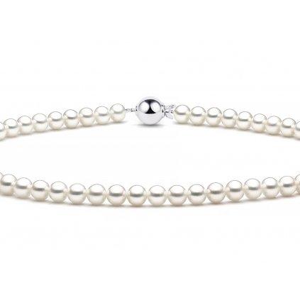 Luxusní perlový náhrdelník se zapínáním z bílého zlata