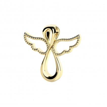 Andělský přívěsek Agnes ze žlutého zlata