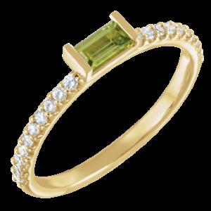 Pantone-Summer-Yellow-Gold-Peridot-Diamond-Stackable-Ring-300x300