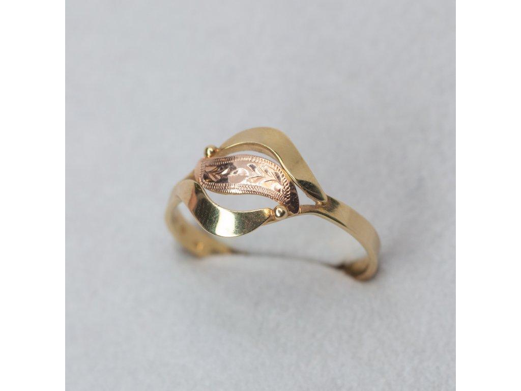 Dvoubarevný prsten, vel. 57