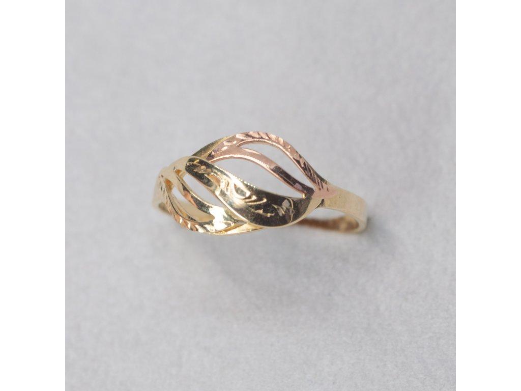 Dvoubarevný prsten, vel. 62
