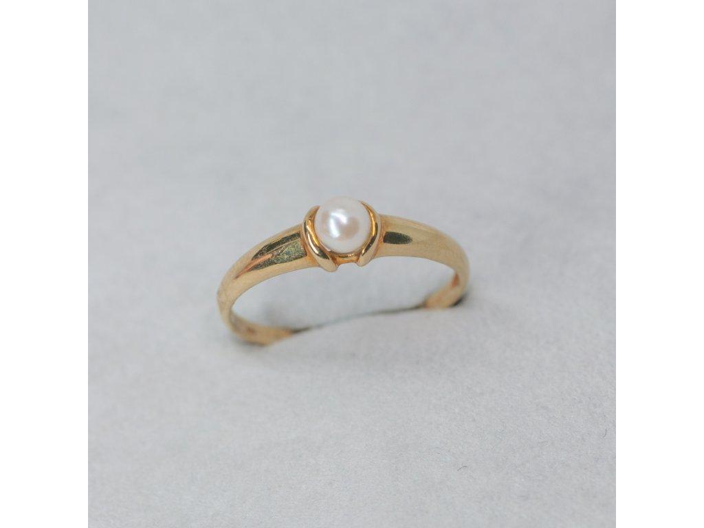 Prsten s perlou, vel. 56