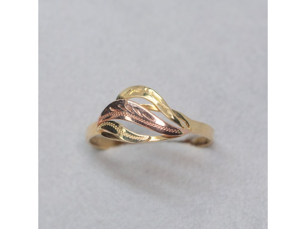 Dvoubarevný prsten, vel. 60