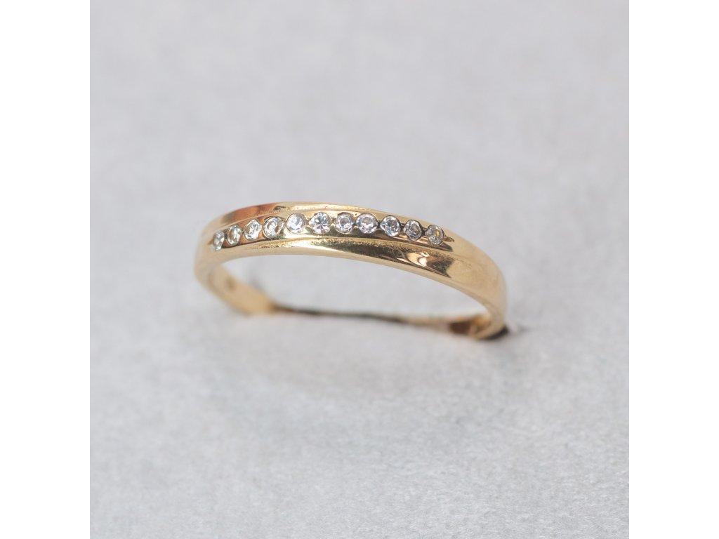 Prsten se zirkony, vel. 54