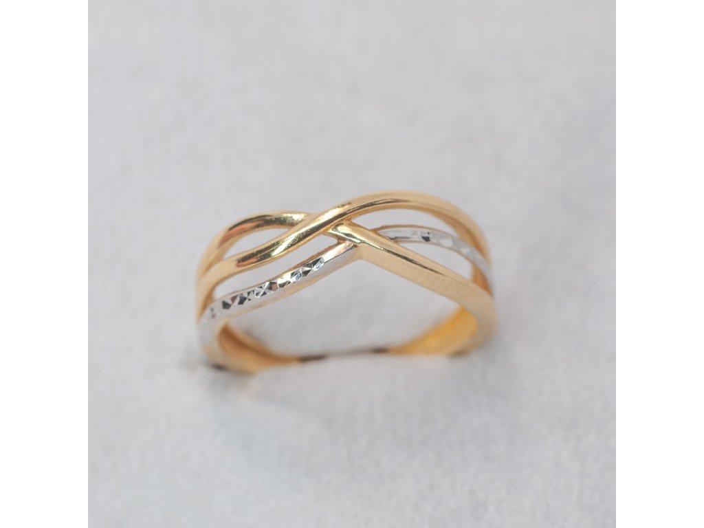 Dvoubarevný prsten, vel. 52