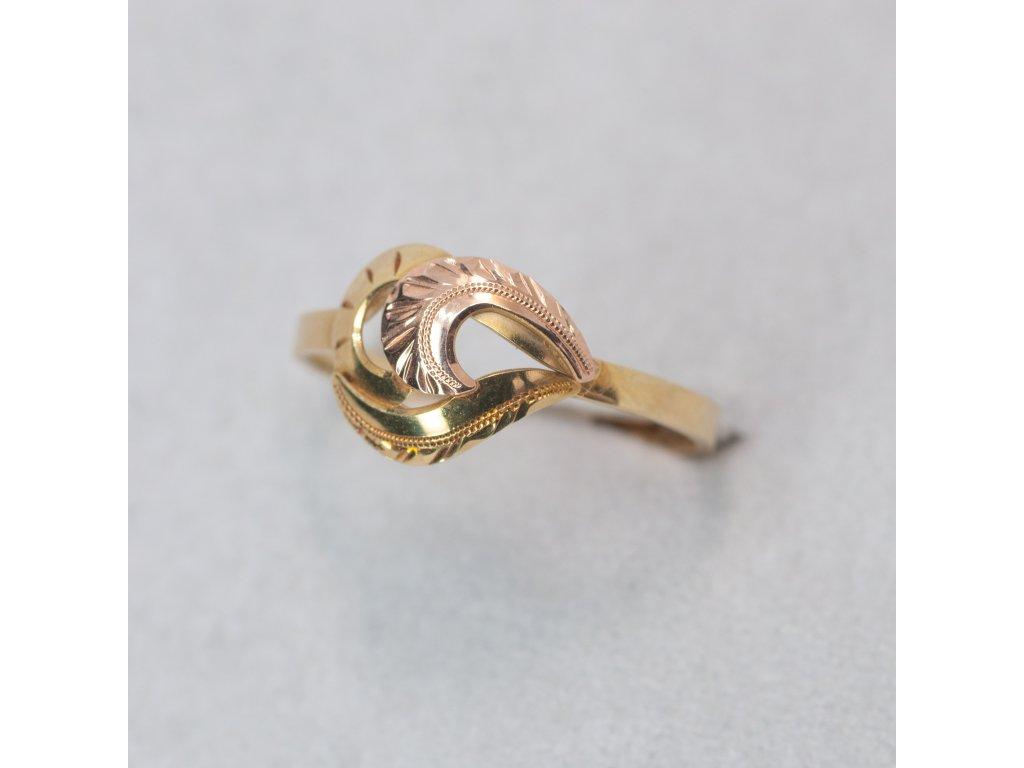 Dvoubarevný prsten, vel. 54