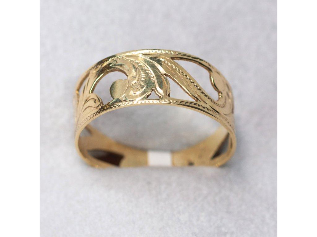 Zdobený prsten, vel. 61