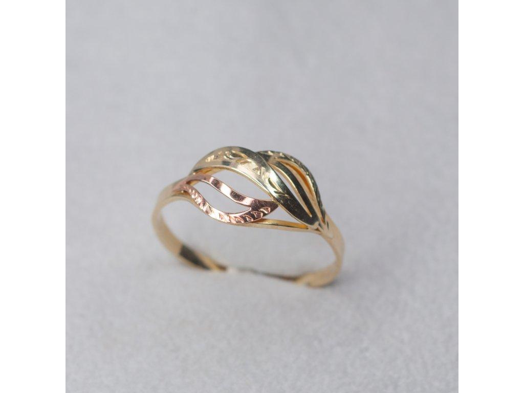 Dvoubarevný prsten, vel. 58