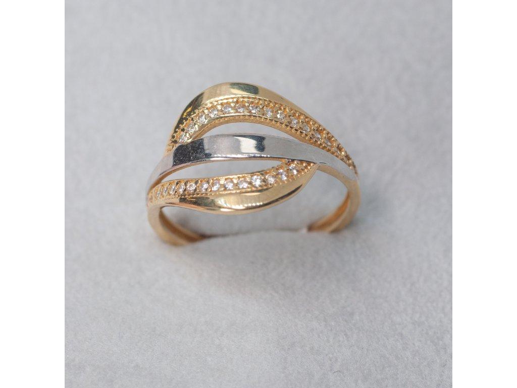 Dvoubarevný prsten, vel. 59