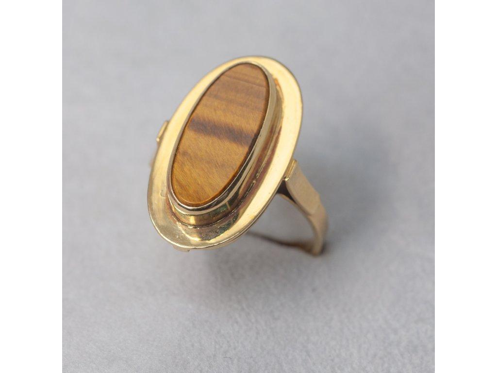 Prsten s tygřím okem, vel. 57