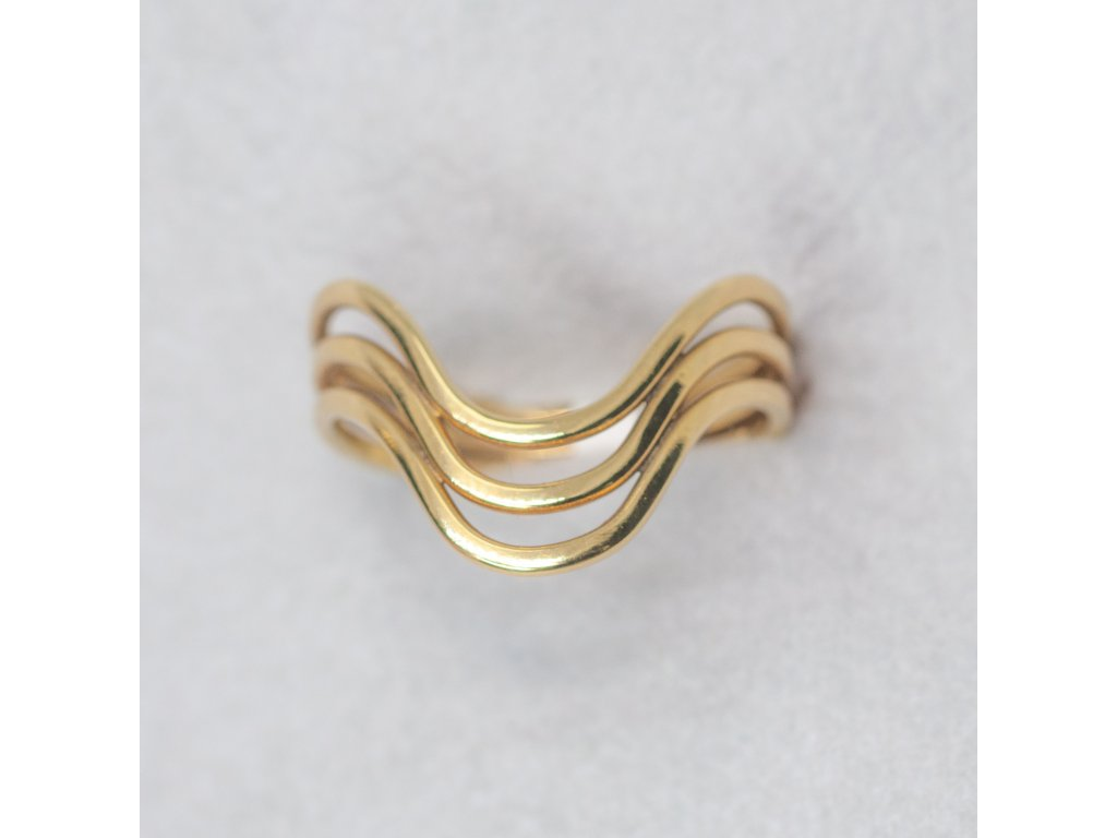 Prsten s vlnkou, vel. 58