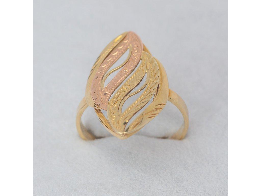 Elegantní dvoubarevný prsten, vel. 57