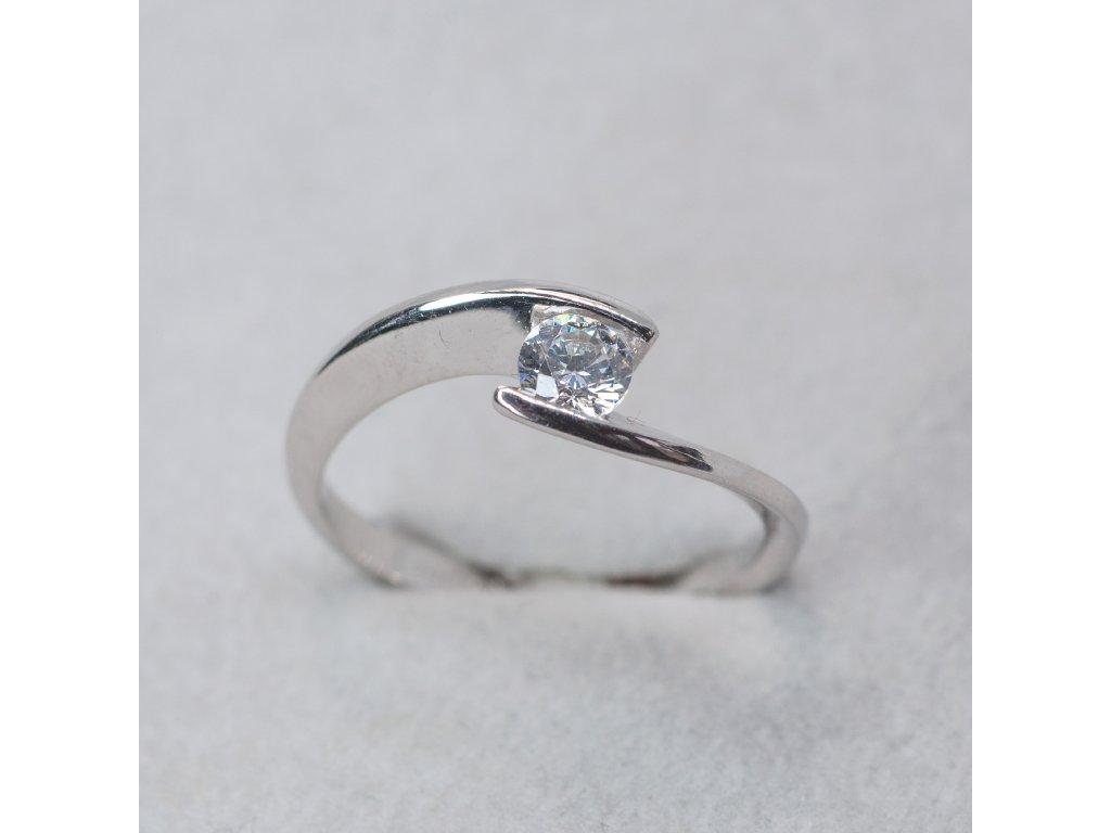 Prsten z bílého zlata, vel. 52