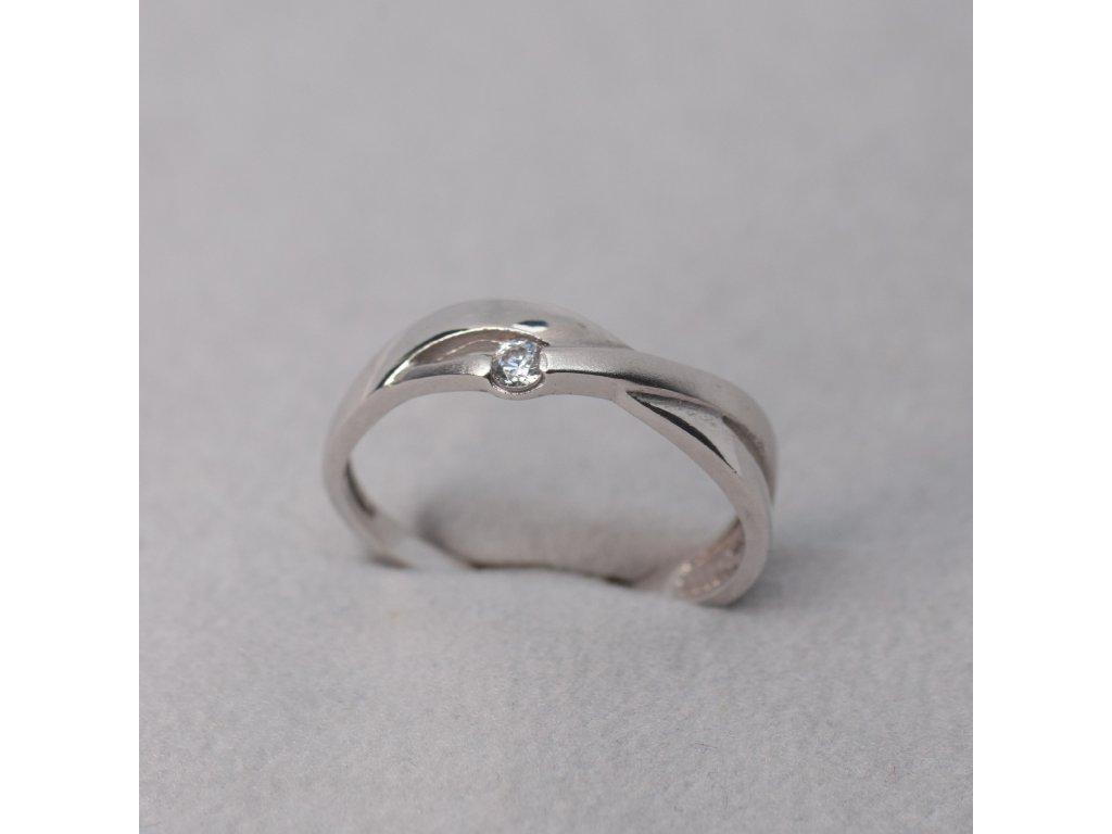 Prsten s kombinací lesklého a matného zlata, vel. 52