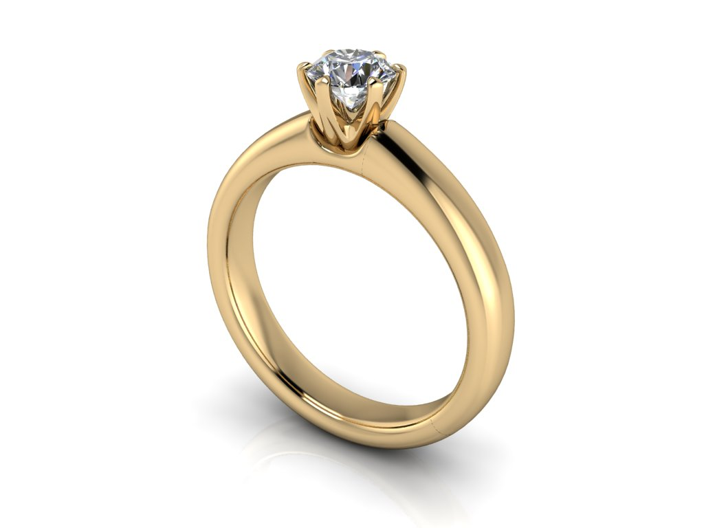 zasnubni prsten MORGAN zlute zlato 5,00mm zlatnicke studio salaba zlatnictvi