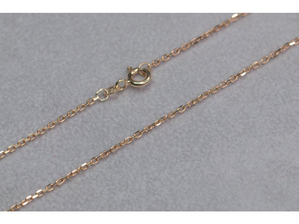 Jemný zlatý řetízek, délka 45 cm
