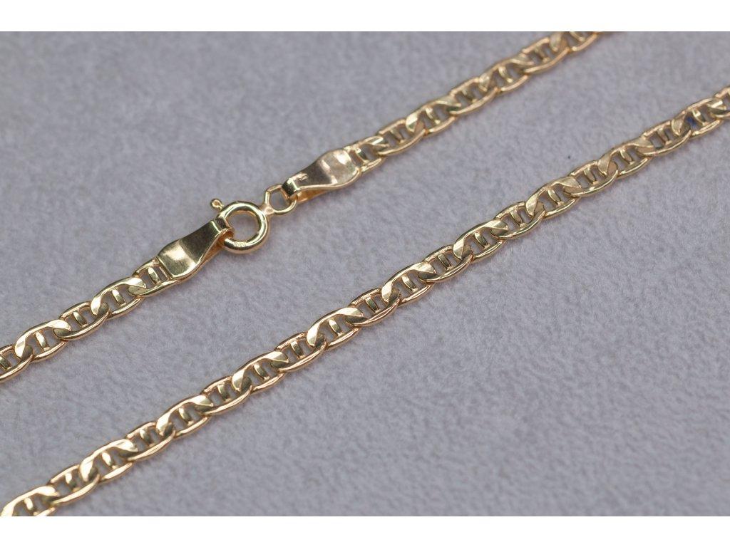 Zlatý dutý řetěz, délka 45 cm