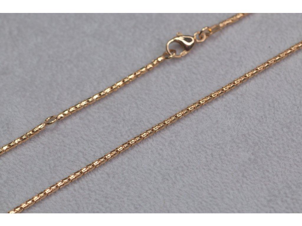 Zlatý nastavovací řetízek, délka 45 cm