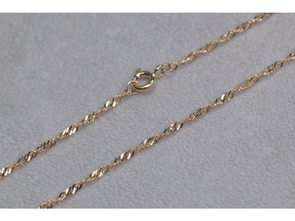 Točený zlatý řetěz, délka 45 cm