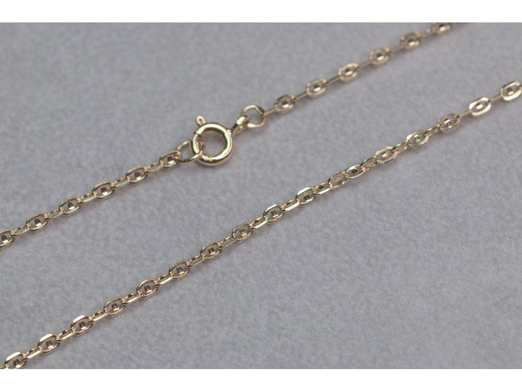 Zlatý řetízek s péráčkem, délka 45 cm
