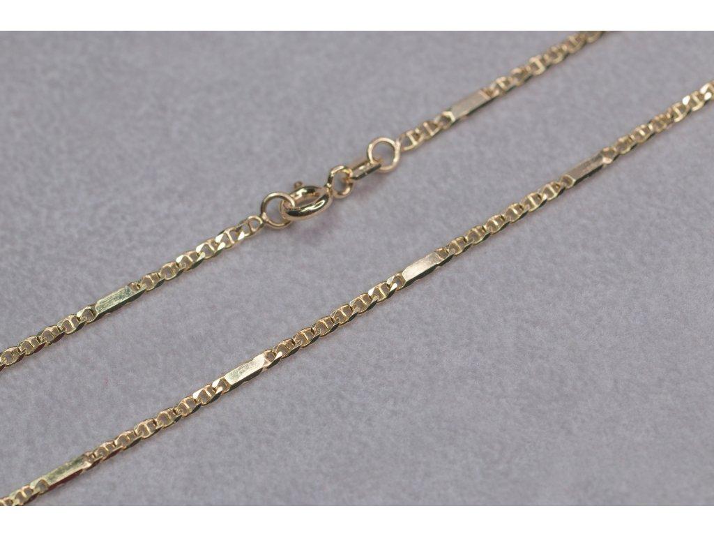 Elegantní zlatý řetízek, délka 45 cm