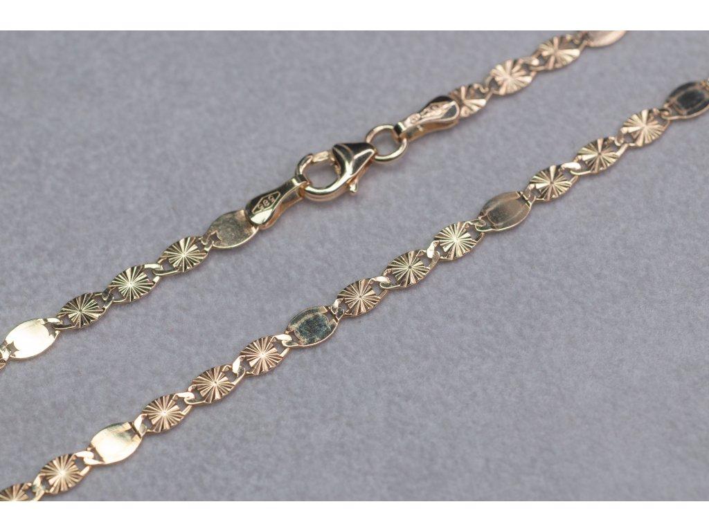 Zdobený řetízek, délka 45 cm
