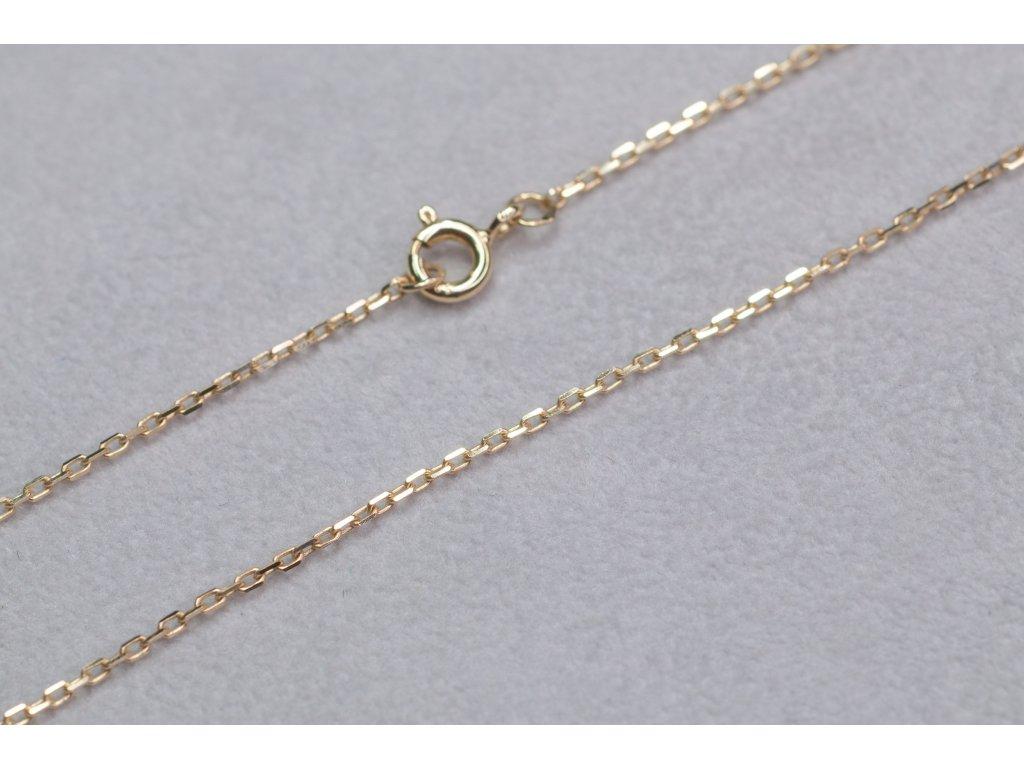 Jemný zlatý řetízek, délka 60 cm