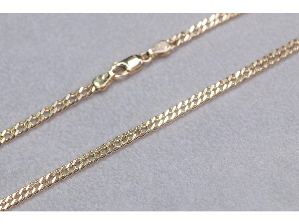 Zlatý řetízek, délka 50 cm