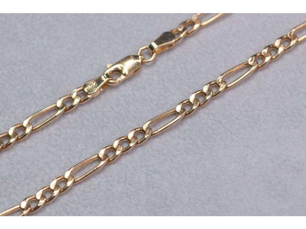 Pánský zlatý řetízek, délka 51 cm
