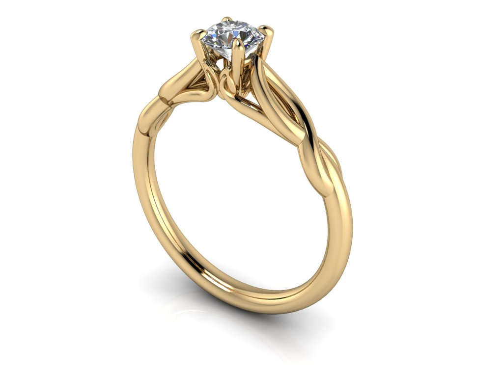 zasnubni prsten EMILY zlute zlato 4,50mm zlatnicke studio salaba zlatnictvi