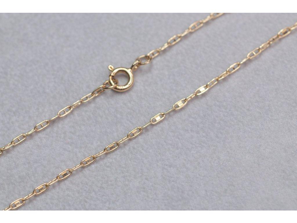 Zlatý řetízek s péráčkem, délka 50 cm