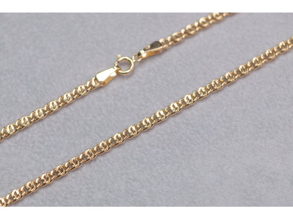 Zlatý dutý řetízek, délka 50 cm
