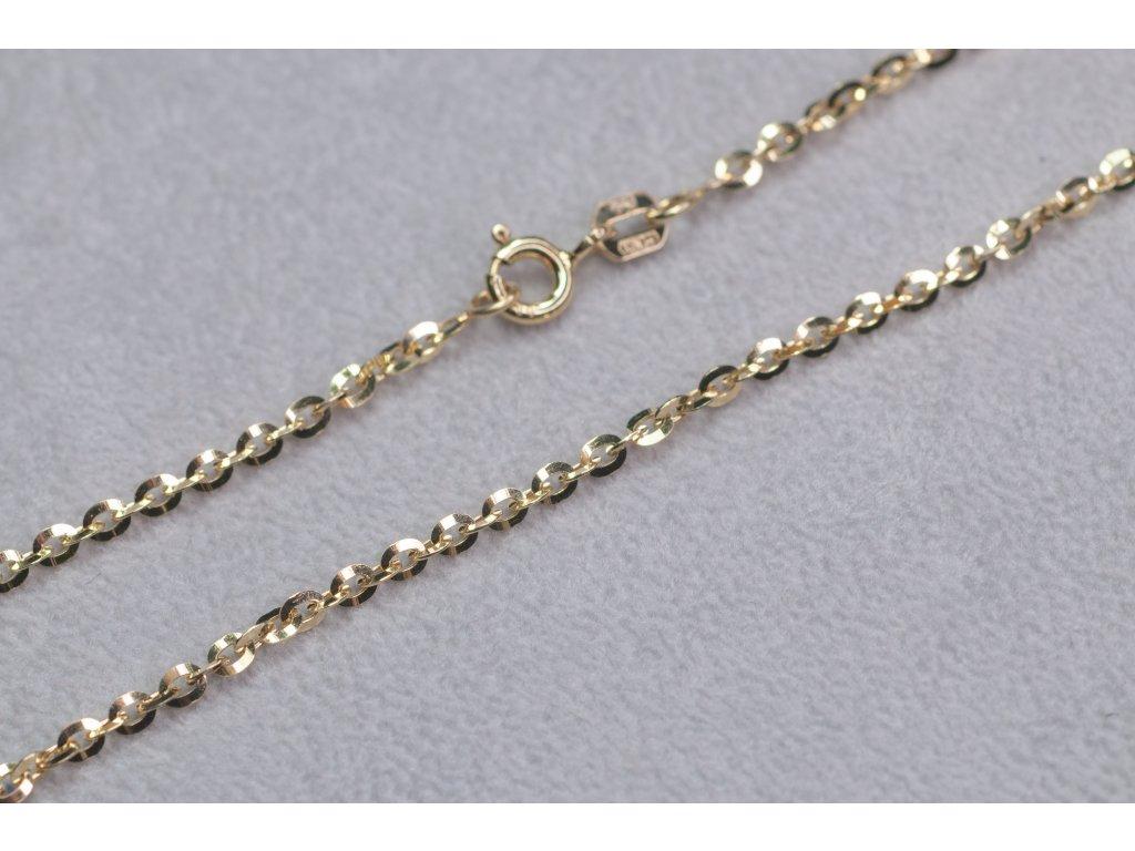 Univerzální zlatý řetízek, délka 50 cm