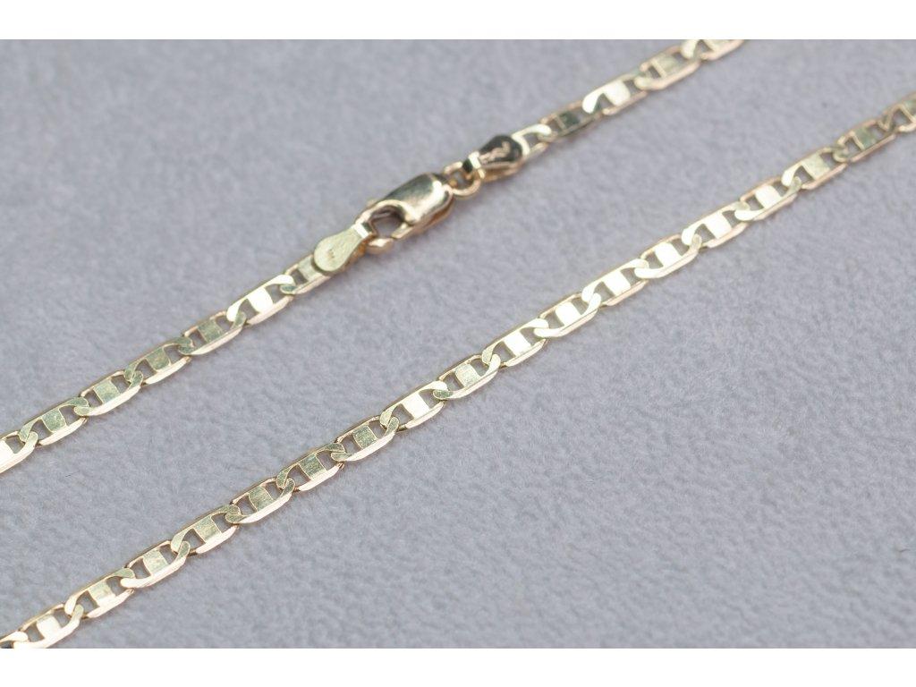 Zlatý řetízek s karabinkou, délka 50 cm