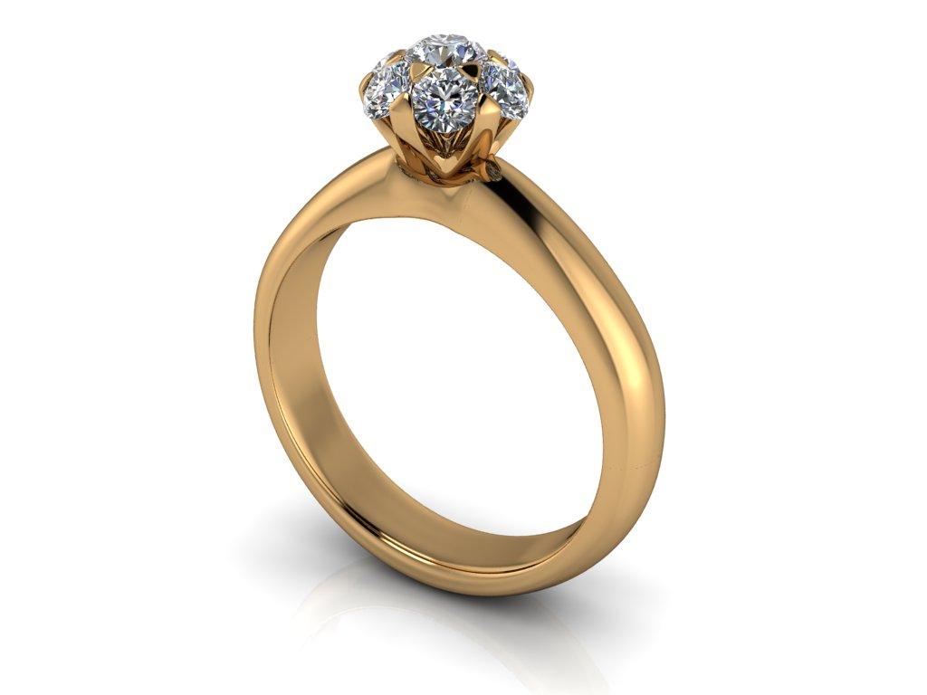 zasnubni prsten ANDIE zlute zlato 3.50mm zlatnicke studio salaba zlatnictvi
