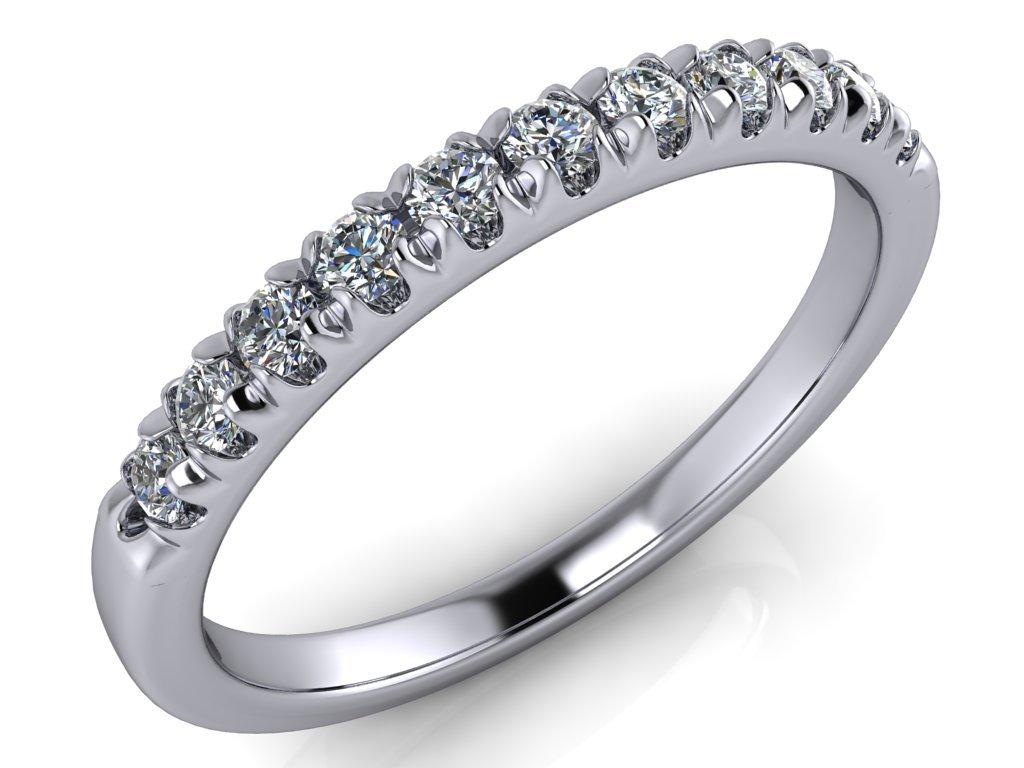 diamantový snubní prsten Dita 12 diamantů 1,75 mm