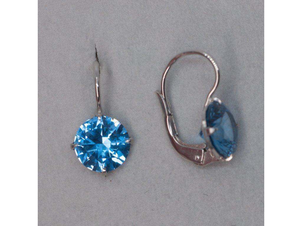 Náušnice s modrými zirkony