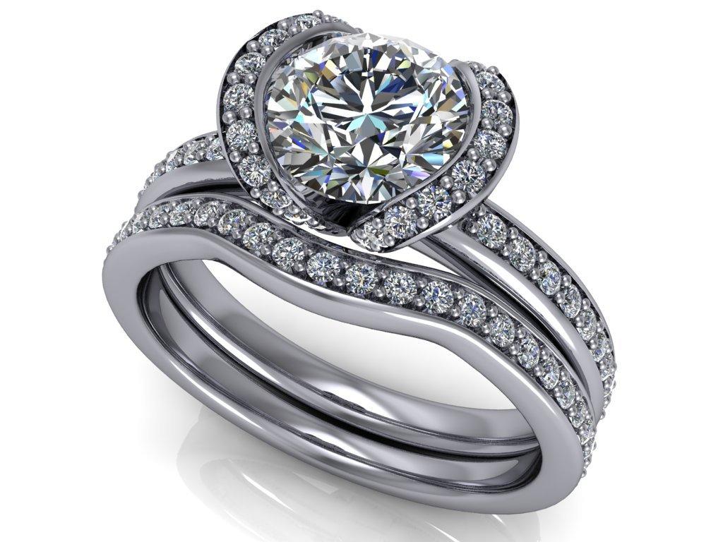 komplet zásnubní a snubní prsten Blakely