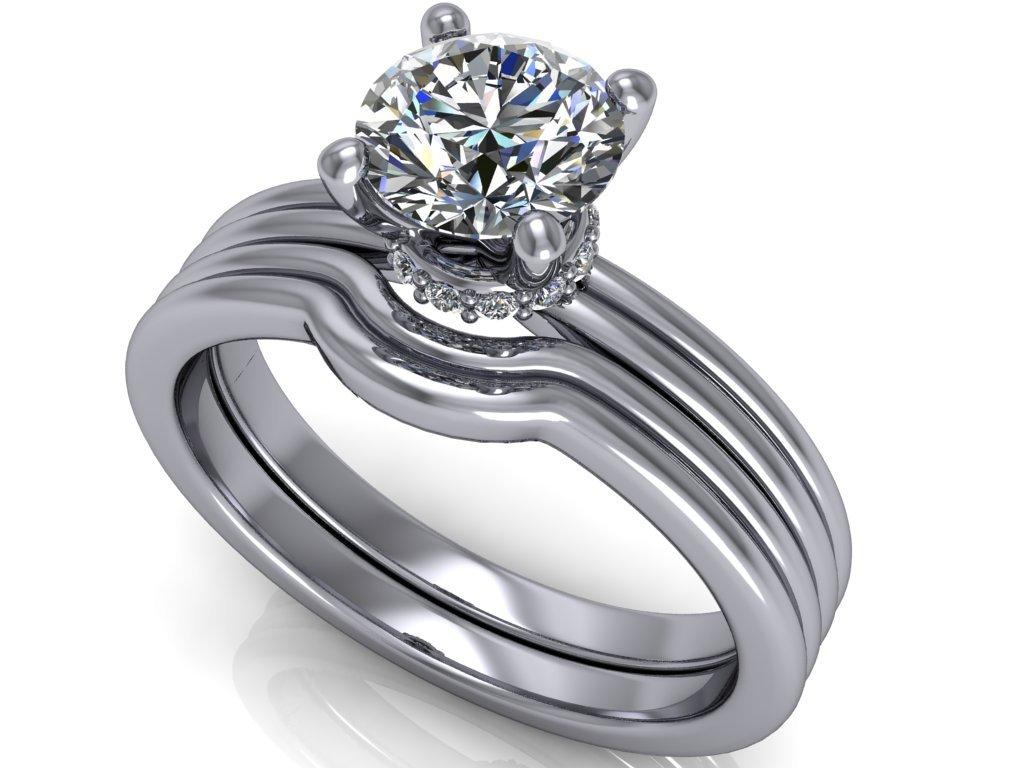 komplet zásnubní a snubní prsten Lindsey