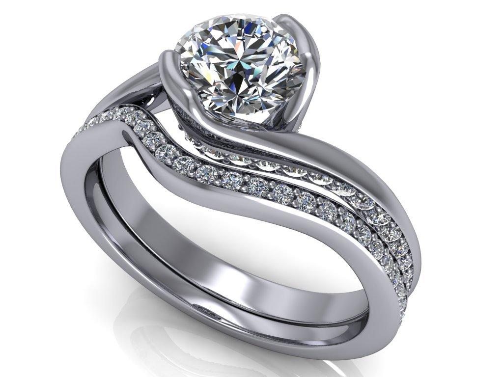 komplet zásnubní a snubní prsten Nora