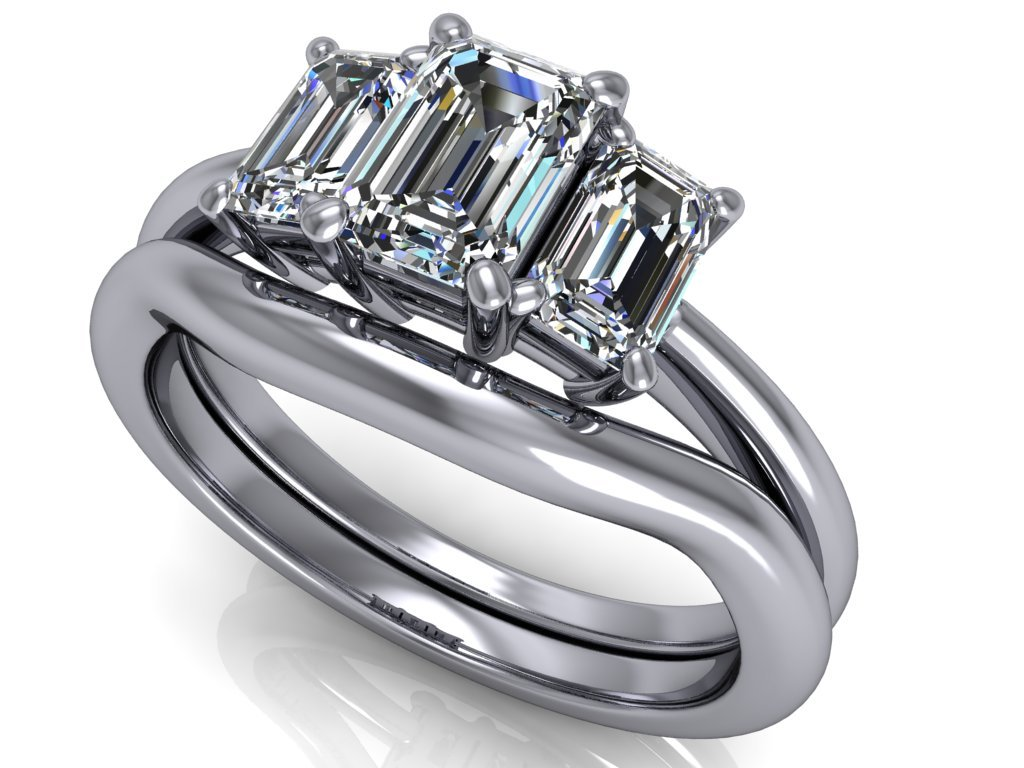 komplet zásnubní a snubní prsten Savannah