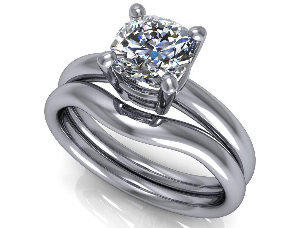 komplet zásnubní a snubní prsten Catherine