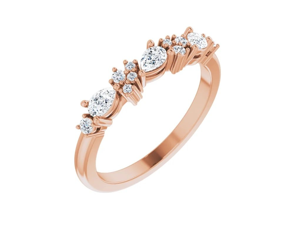 snubni prsten THERESA ruzove zlato s diamanty zlatnicke studio salaba zlatnictvi