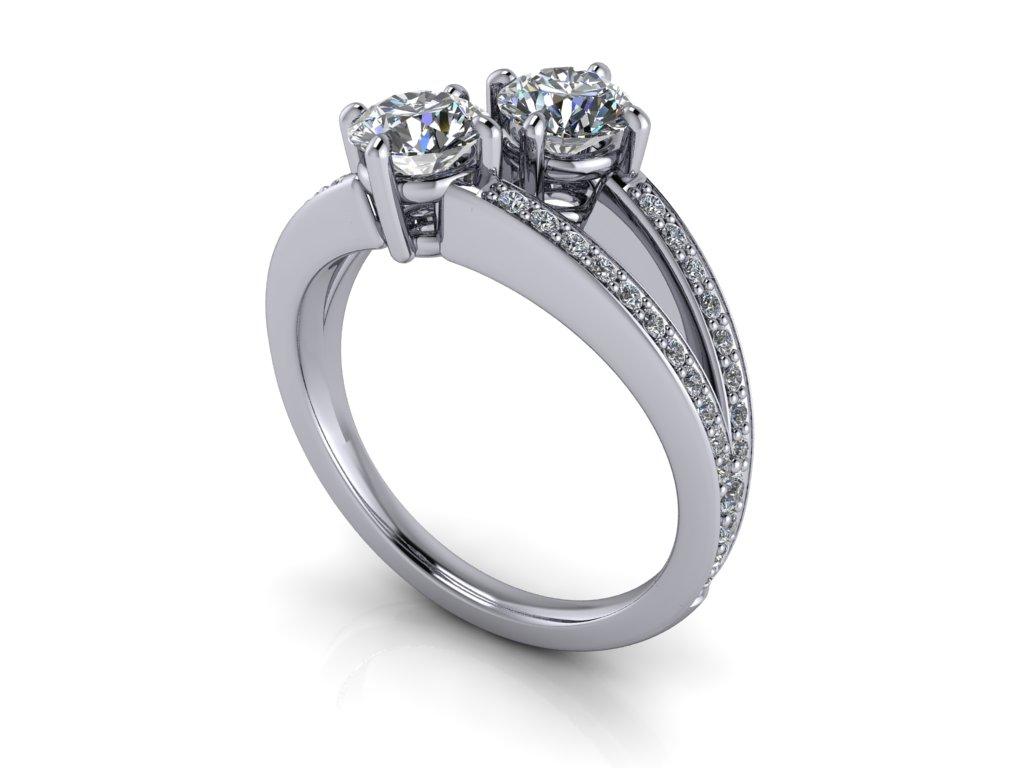 netradicni_zasnubni prsten diana 122934 bile zlato 5,00mm zlatnicke studio salaba zlatnictvi