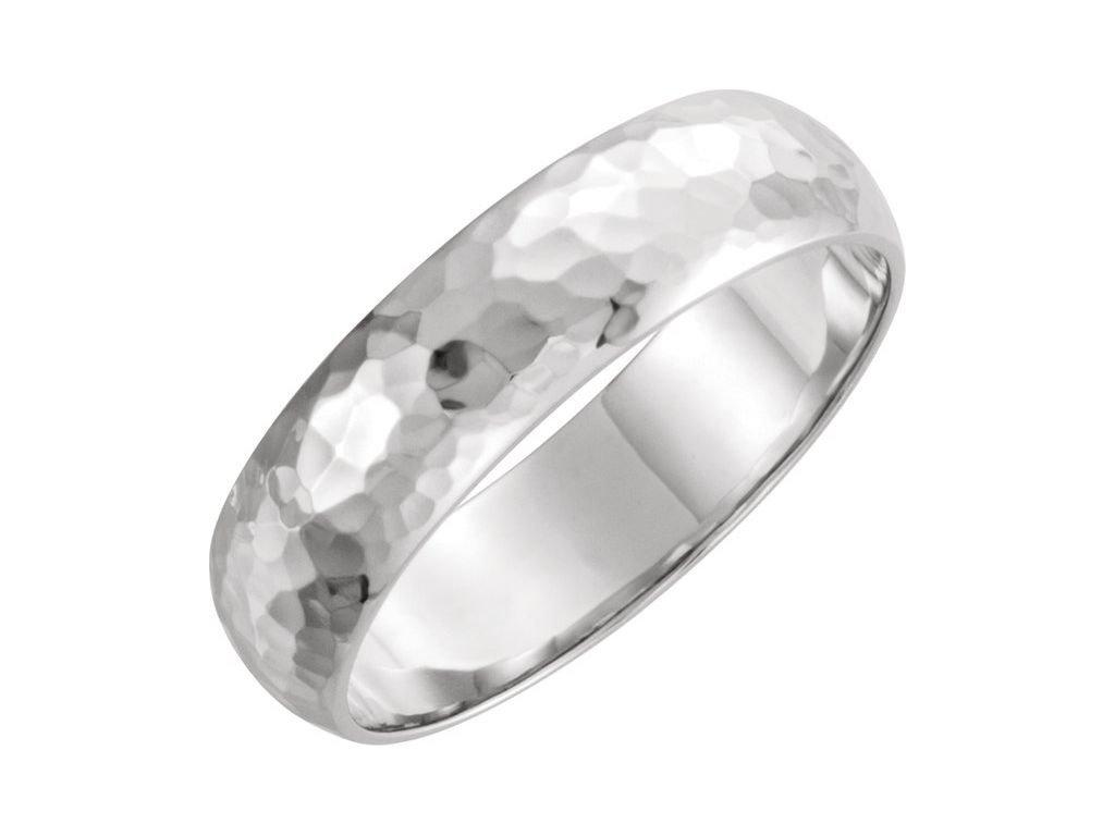 51529 netradiční pánský snubní prsten z bílého zlata OLIVER 6mm zlatnictvi salaba zlatnicke studio