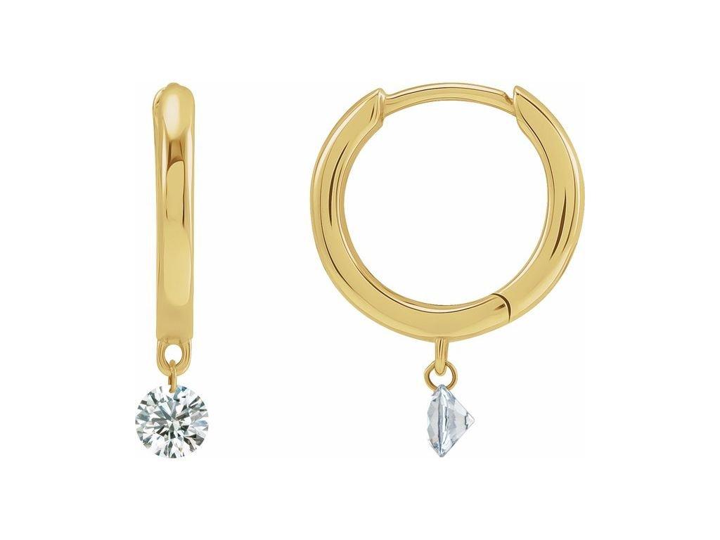 diamantove nausnice HOLLIE holie 688808 zlute zlato zlatnictvi salaba zlatnicke studio