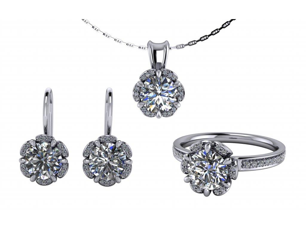 luxusni sperky remi diamanty moissanity souprava zlatnictvi salaba zlatnicke studio