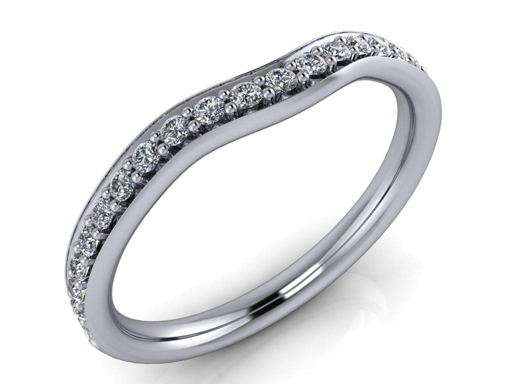 diamantový snubní prsten Clara nový render