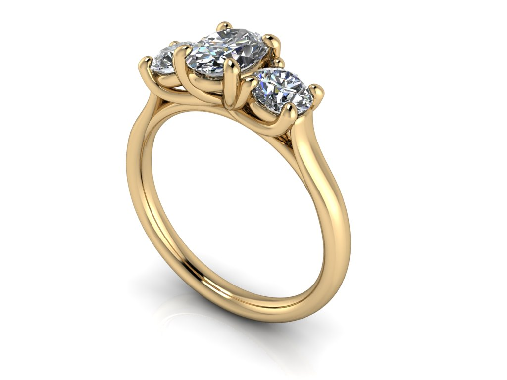 zasnubni prsten CHARLOTTE zlute zlato 7x5 zlatnicke studio salaba zlatnictvi