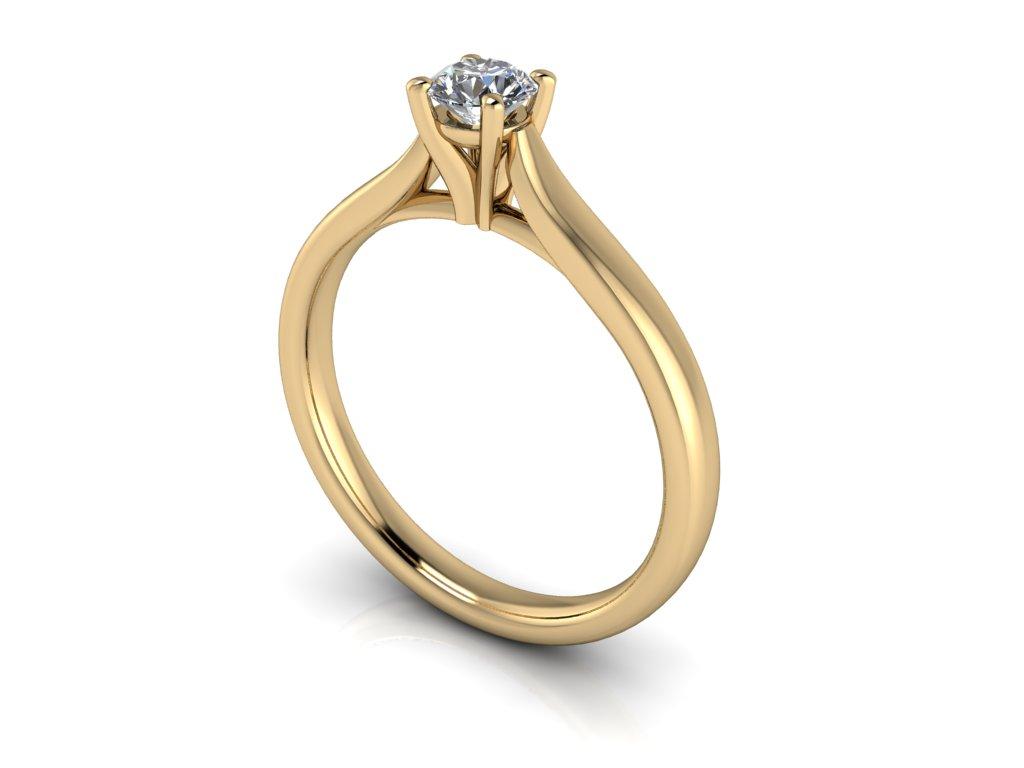 zasnubni prsten CAROLINE zlute zlato 4.10mm zlatnicke studio salaba zlatnictvi